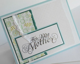 Mothers Day Greeting Card:  Handmade Blank Note Card - Miss Daisy