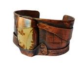 Picture Jasper Stone and Copper Cuff Bracelet, mens copper cuff, womens copper cuff, copper bracelet, stone cuff bracelet, jasper stone