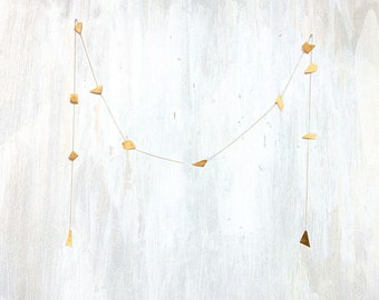 Garland with Organic Forged Brass and Vintage Brass Chain