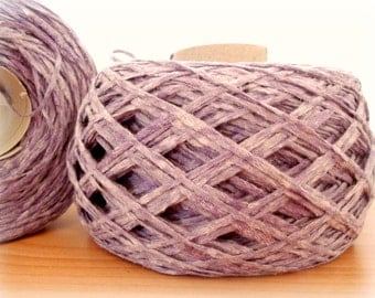 SALE Cotton Blend Yarn - Hand Knitting - Thick Gauge Yarn - Knitting Yarn - Lavender Violet - One Ball 130g - Summer yarn