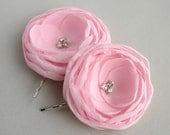 Light Pink Flower Hair Acessory, Pink Flower Hair Clip, Bridesmaid Hair Piece, Bridal Accessory, Flower Hair Pins, Bridesmaid Hair Clip