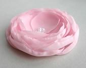 Light Pink Flower Hair Clip, Pink Wedding Hair Accessory, Light Pink Hair Piece, Fascinator, Bridal Accessory, Bridesmaid Flower For Hair