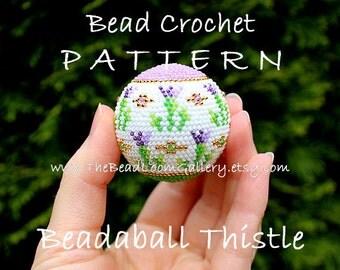 Beadaball Thistle - Crochet PDF File TUTORIAL - Beadaball Vol.4 with Swarovski Crystals