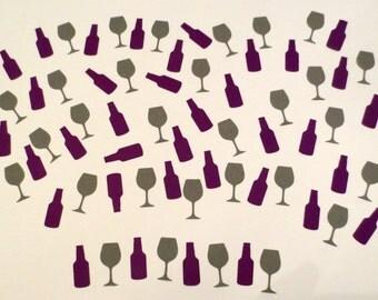 Wine Bottle/Wine Glass Confetti- Set of 200