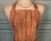 Sale Apron Wood Grain Full Apron Men Women Unisex Fully Lined Ready to ship!
