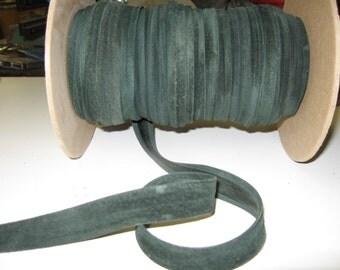 "Genuine Pig Suede Stripping 3/4"" Open Fold  (4 yds) SM0750CP in Loden Green"