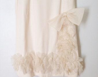 Vintage Cream ruffle dress