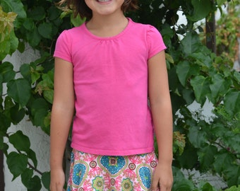 INSTANT DOWNLOAD- Super Simple Skirt (Sizes 6/12 months to 6) PDF Sewing Pattern and Tutorial