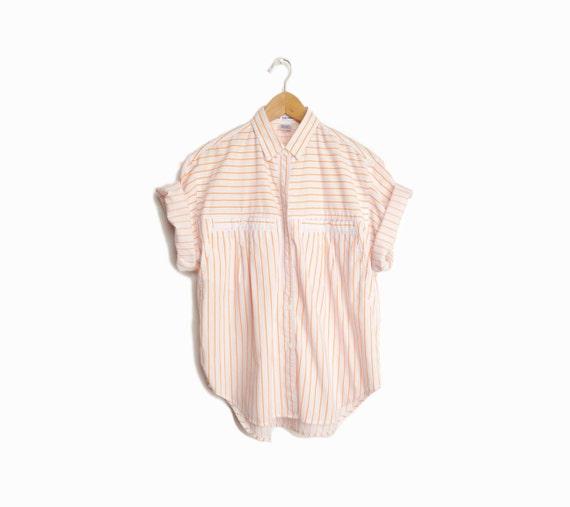 Orange Striped Shirt Womens Striped Shirt / Women's