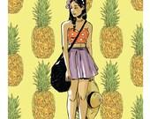 Pineapple Pattern, Giclee Art Print