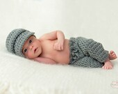 Newborn Boy, Coming Home Outfit, Infant Boy, Crochet Outfit, Crochet Clothes, Cute Baby Boy Clothes, Crochet Pants, Longies, SS-lo900