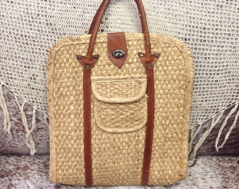 Woven Vintage Laptop Sized Bag