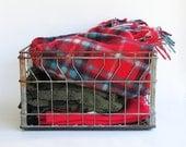 Vintage Steel Wire Milk Crate - Nicely Distressed