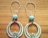Silver and Sky  Hoops