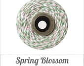 Spring Blossom - Light Pink, Mint & White Baker's Twine