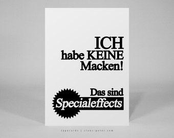 typocard | macken | T003 Postkarte