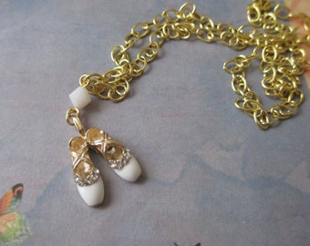 Ballerina slipper necklace