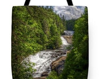Triple Falls North Carolina Tote Bag