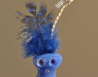 Phyllis-Lampwork glass bead alien-critter-animal-SRA-handmade-OOAK