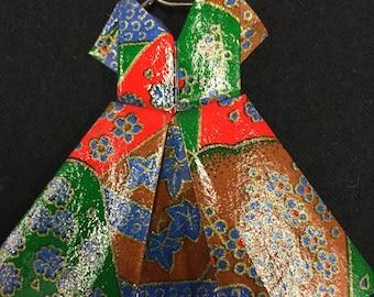 origami dress ornament