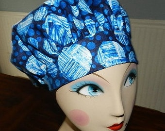 True Blue Banded Bouffant Surgical Cap by Nurseheadwear