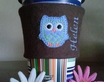 coffee sleeve cozy owl