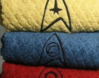 Star Trek Embroidered Insignia Kitchen Hand Towel