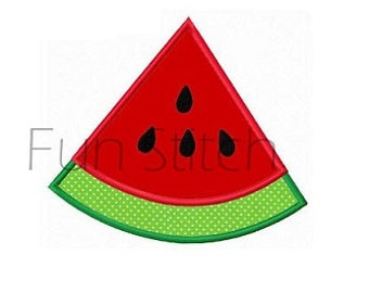 summer watermelon wedge machine embroidery applique