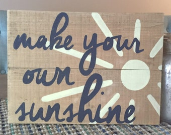 Make your own sunshine pallet sign