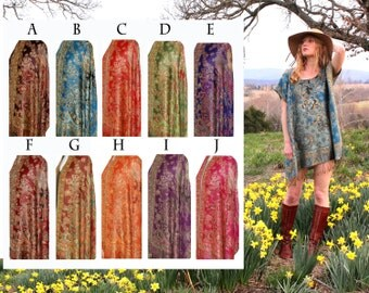 Custom Bohemian Chic Dress One Size Fits All Tunic Shirt Mini Midi or Maxi Hippie Boho Ethnic Indian Gypsy Caftan Fringe OSFA