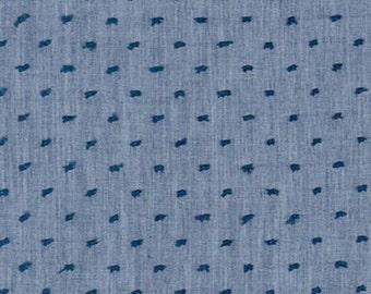 Denim Swiss Dot Chambray, Swiss Dot Chambray Collection by Robert Kaufman