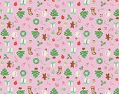 Pink Joy Goodies Fabric by the yard Little Joys Elea Lutz Penny Rose Pink Joy Goodies