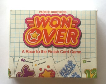 Vintage Won Over by Parker Brothers 1983, Card Game 1980s