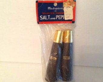 Vintage Ucagco Hardwood Salt & Pepper Shakers NOS New in Package