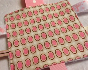 Pink Cream Baby Crinkle Toy Ready To Ship
