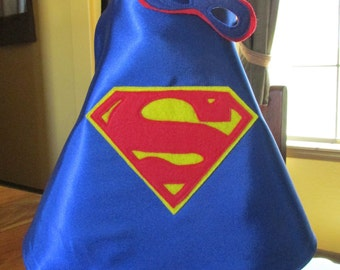 Newborn Photo Prop / Superman Cape and mask / Super hero prop / Photo Prop