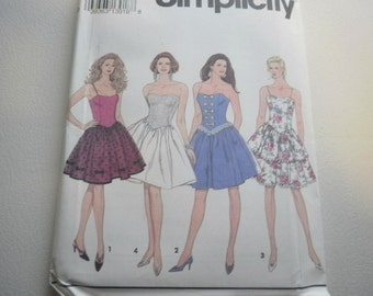 Pattern Vintage Womens Dress 4 Styles Sizes 16 to 20 simplcity 8357