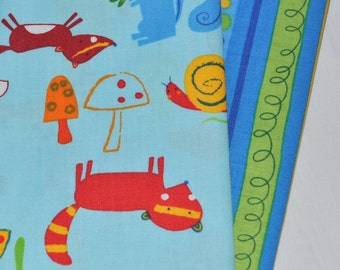 Animal Party Too Summer Animals 2 Fabric Fat Quarters Bundle by Amy Schimler for Robert Kaufman, 1/2 yard total