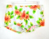 90's Floral Neon Hot Pants size -L/XL