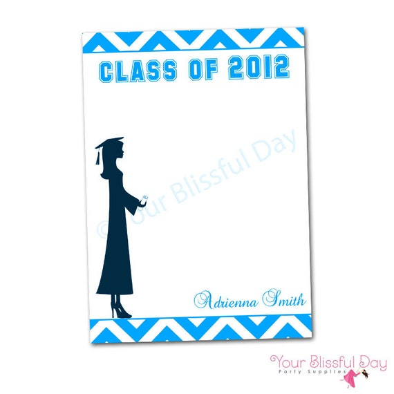 PRINTABLE Personalized Female Graduation Party Thank You Cards (Color of your choice) #302