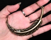 PREORDER - Flight of the Constrictor: Real Colombian Red Tailed Boa Rib Bone Pendant Necklace - BRASS