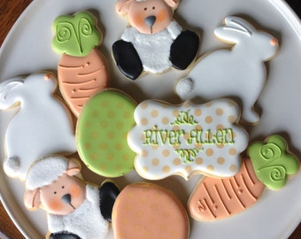 Sweet Little Lamb and Bunny Sugar Cookies