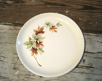 "Two Salem China ""Maple Leaf"" Dinner Plates"