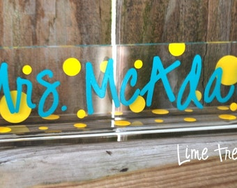 LARGE  - Personalized Acrylic Teacher Name Plate
