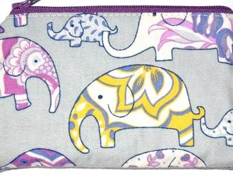 Elephant Coin Purse Zippered Pouch