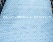 Baby Blue Fitted Minky Crib Sheet or choice of other colors