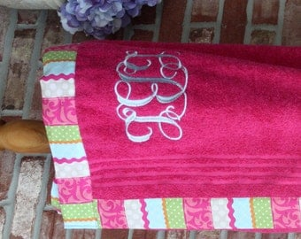 Spa Wrap....adult or child...straps or no straps...monogrammed; your choice of towel color and fabric