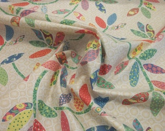 Vintage Patchwork Look Cotton Fabric