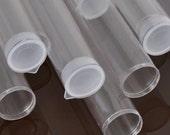"Tools & Supplies-8 Inch Plastic Tubes-8"" x 1.027"" Extra Large-Natural Plug-Quantity 6"