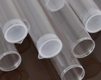 "Tools & Supplies-8 Inch Plastic Tubes-8"" x 1.027"" Extra Large-Natural Plug-Quantity 6"